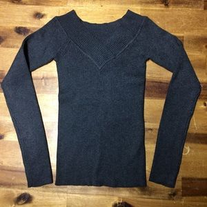 Brand New Ribbed Long Sleeve Top Size Small